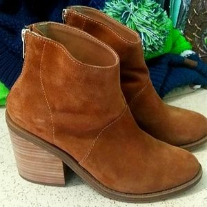 Brown Chestnut Ankle Booties